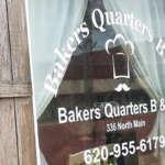 Baker's Quarters Bed and Breakfast, Kingman, Kansas