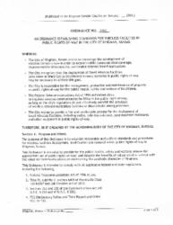 Ordinance #2040 – Wireless Facilities Right Of Way
