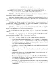Resolution #2020-5