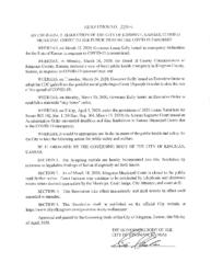 Resolution #2020-6